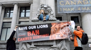 Global march for lions Vancouver